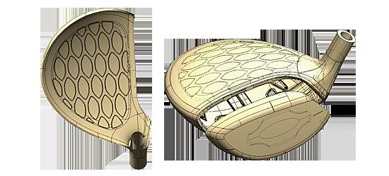 S-03FAIRWAY WOOD:メッシュ構造クラウン&鍛造カップフェース